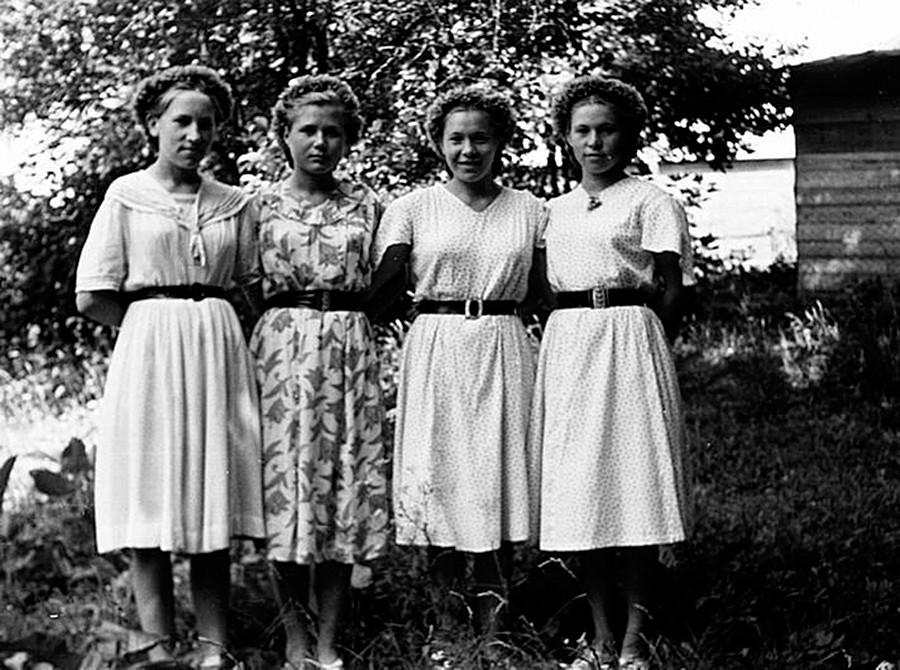 Ein Gruppenporträt von Freundinnen