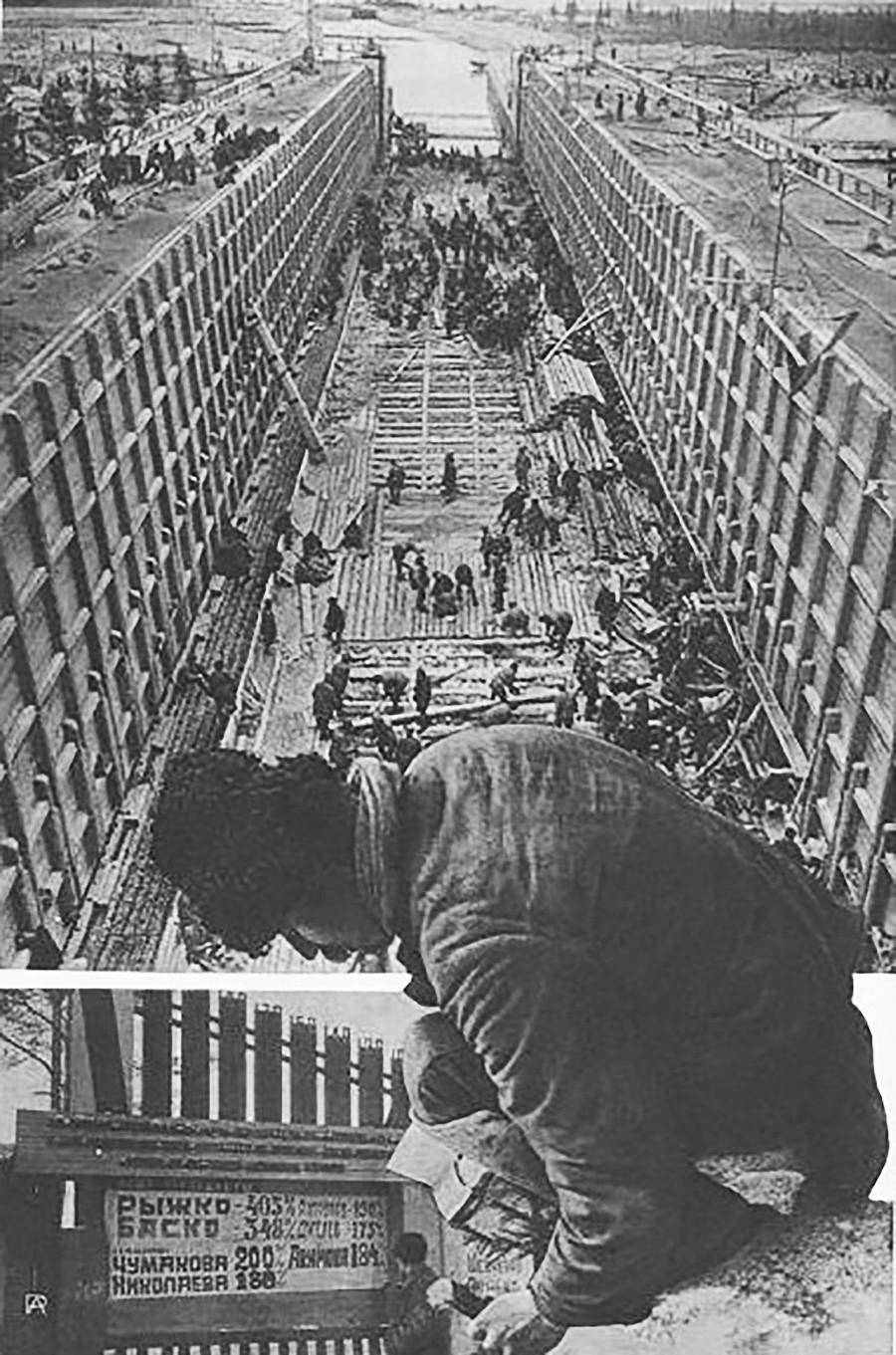 """Foto para la revista """"La URSS en Construcción""""."""