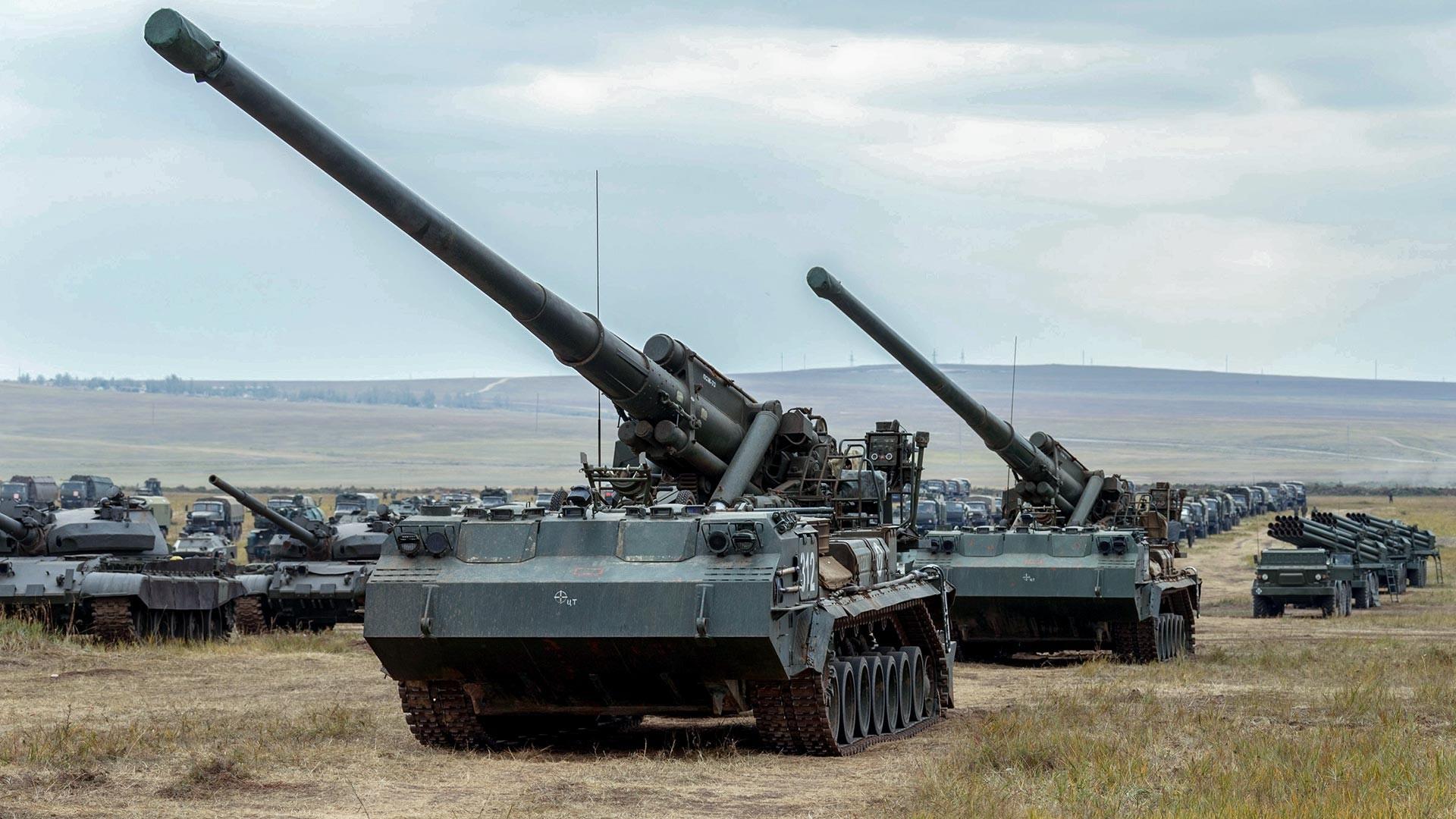 Sistema de artillería 2S7 Pion