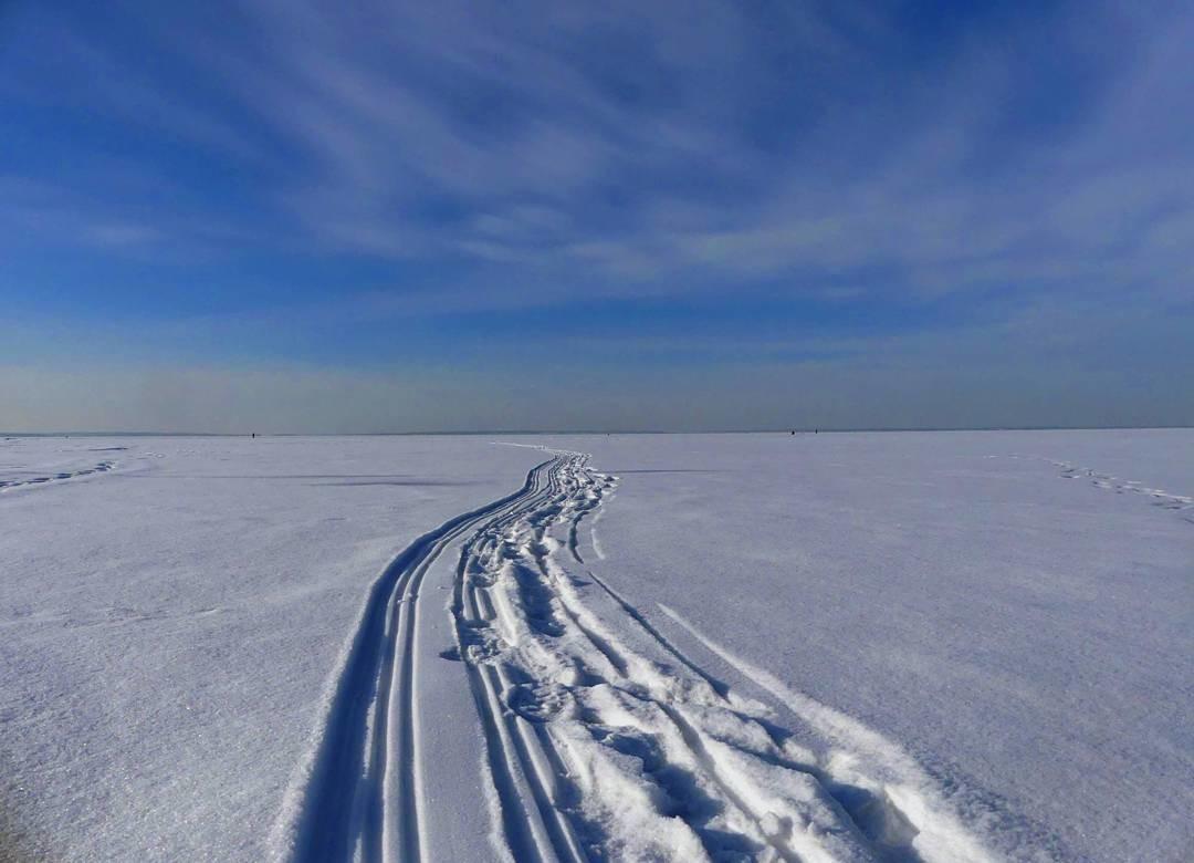 La Volga glacée à Zavoljié