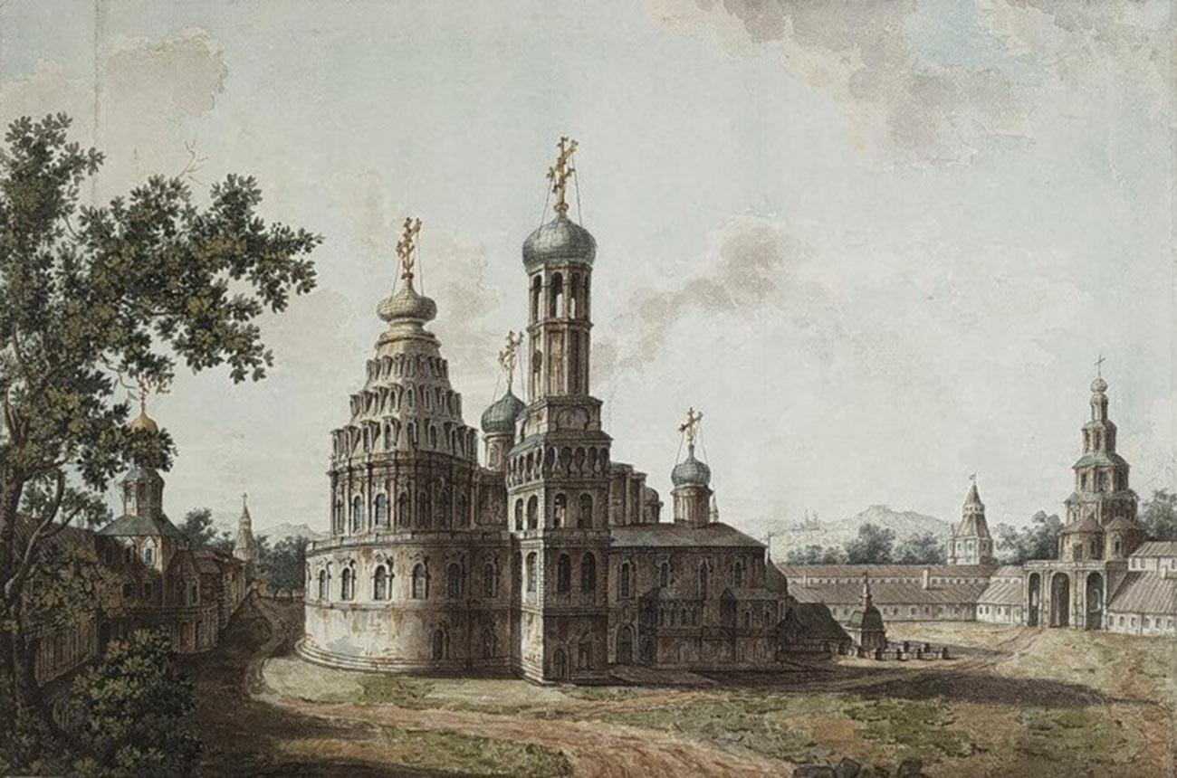 Glavna katedrala vstajenja v samostanu Novega Jeruzalema. Samostan Novi Jeruzalem v bližini Moskve je ustanovil patriarh Nikon in je za kratek čas služil kot njegova rezidenca.