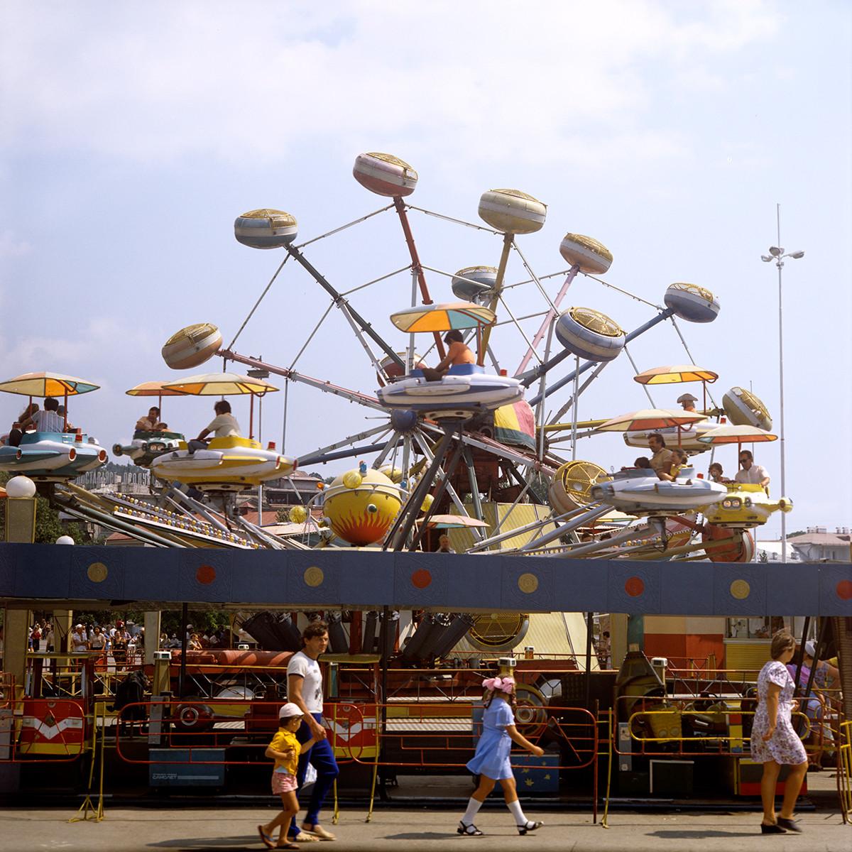 Луна-парк в Ялте, 1981.
