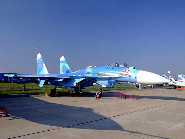 Su-27 na sejmu MAKS 2017