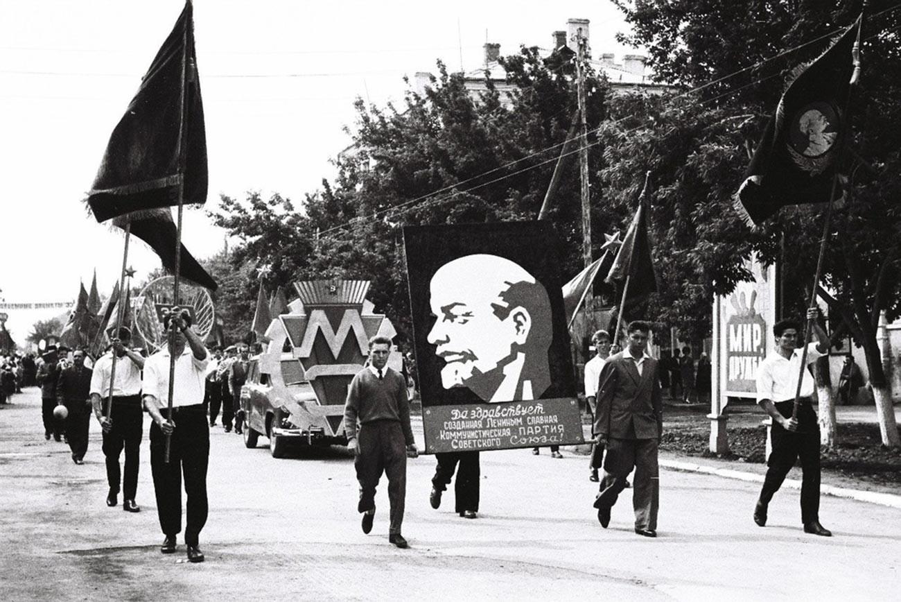 Celebrating the 350th anniversary of the city of Uralsk, Kazakh SSR; September 4-5, 1964.