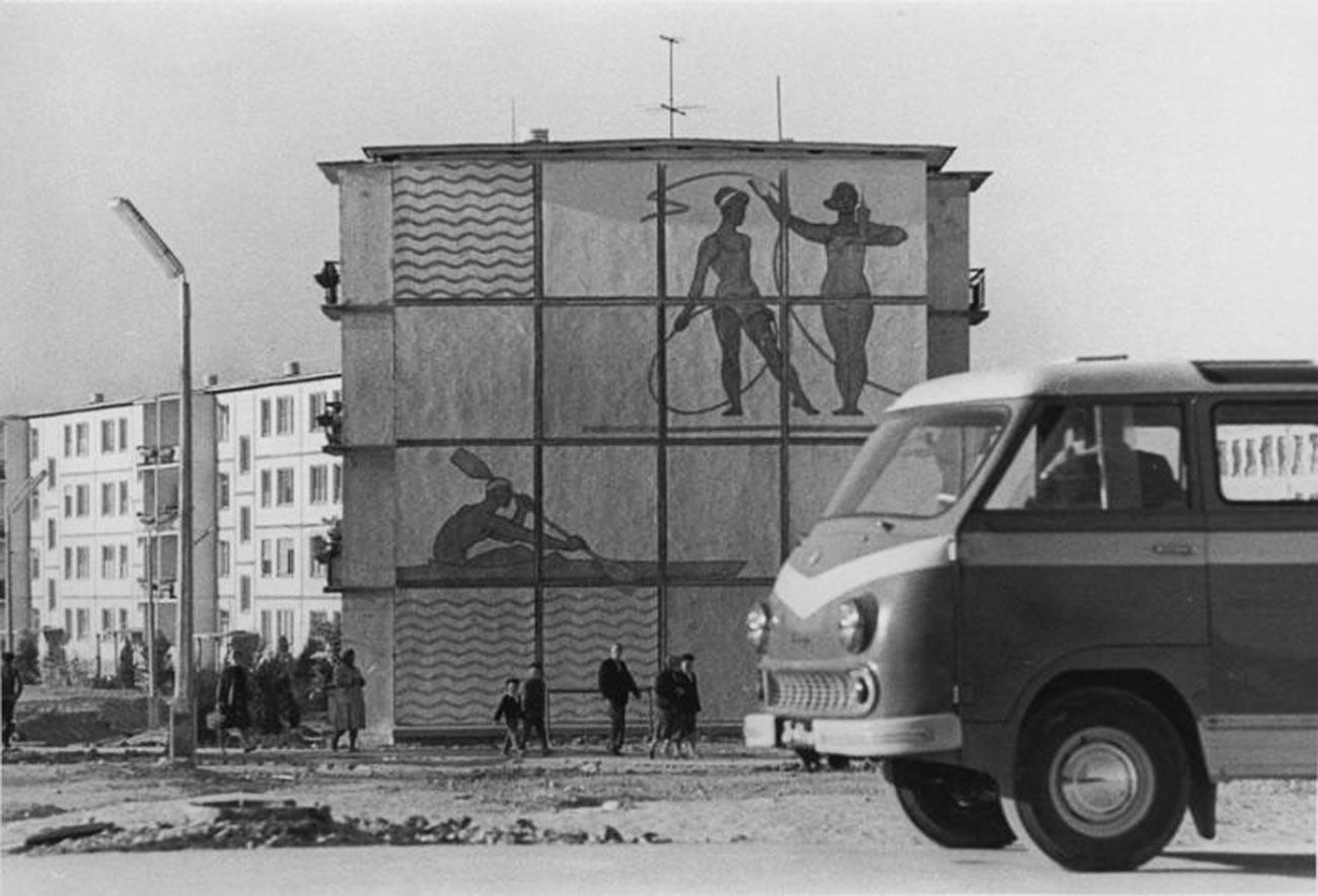 ウズベキスタンの住宅地。1960年代末から1970年代初め