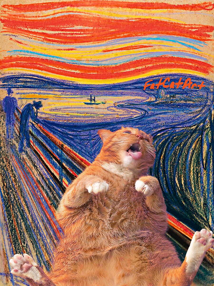 Edvard Munch, 'More of thiS cream!'