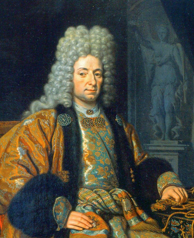 Franz Lefort ritratto da Michiel van Musscher