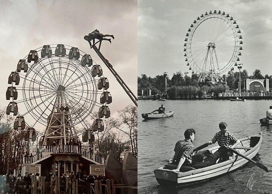 Park Gorki, Moskva. Majhno razgledno kolo, 1930-ta in Veliko razgledno kolo, 1950-ta