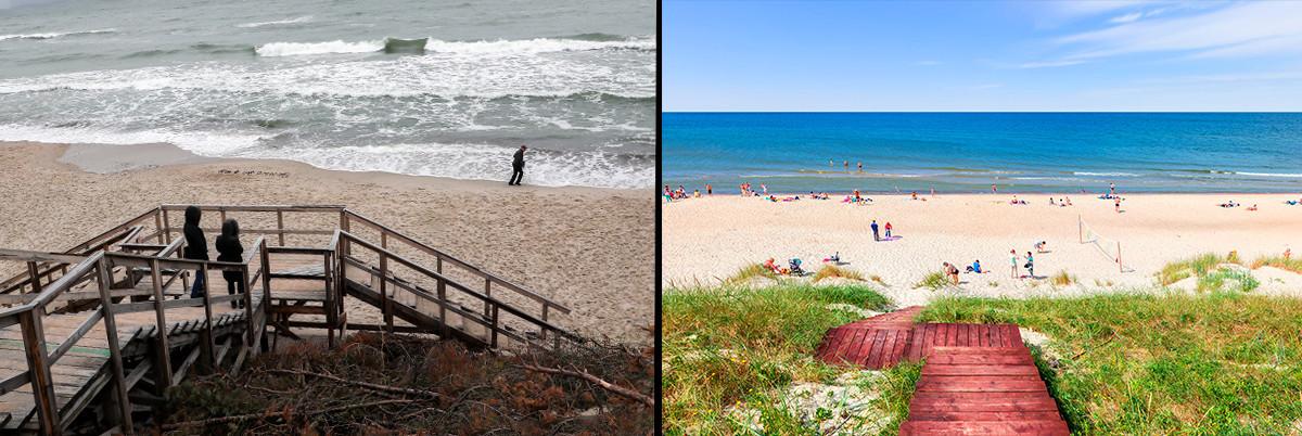 Outono e verão na região de Kaliningrado