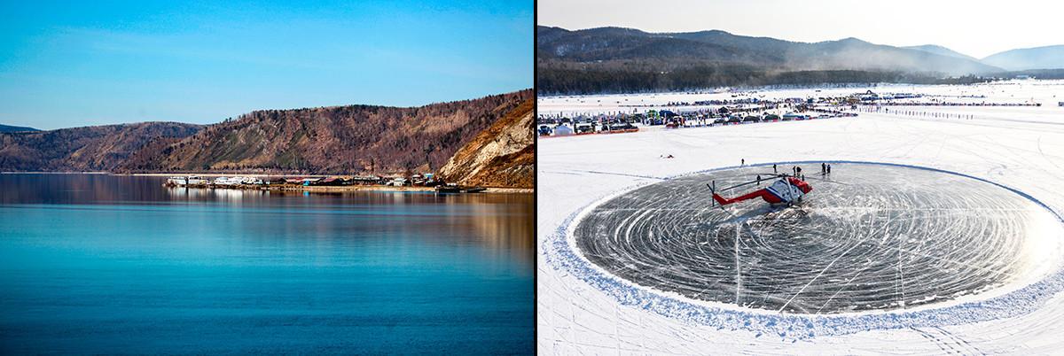 Verão e inverno no Baikal