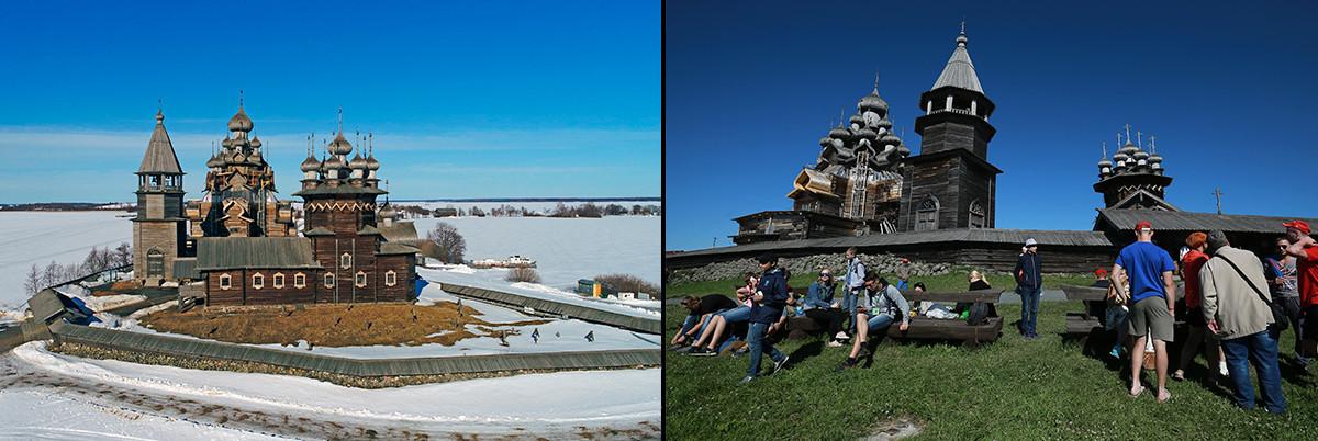 Inverno e verão em Kizhi