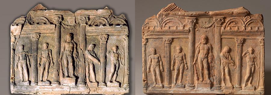 Relief de Campana représentant une palestre (lieu antique pour jeunes sportifs) / Rome, Ier siècle avant JC – Ier siècle après JC