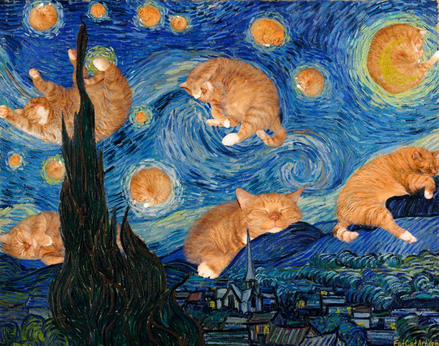 ヴィンセント・ファン・ゴッホ、「猫月夜」