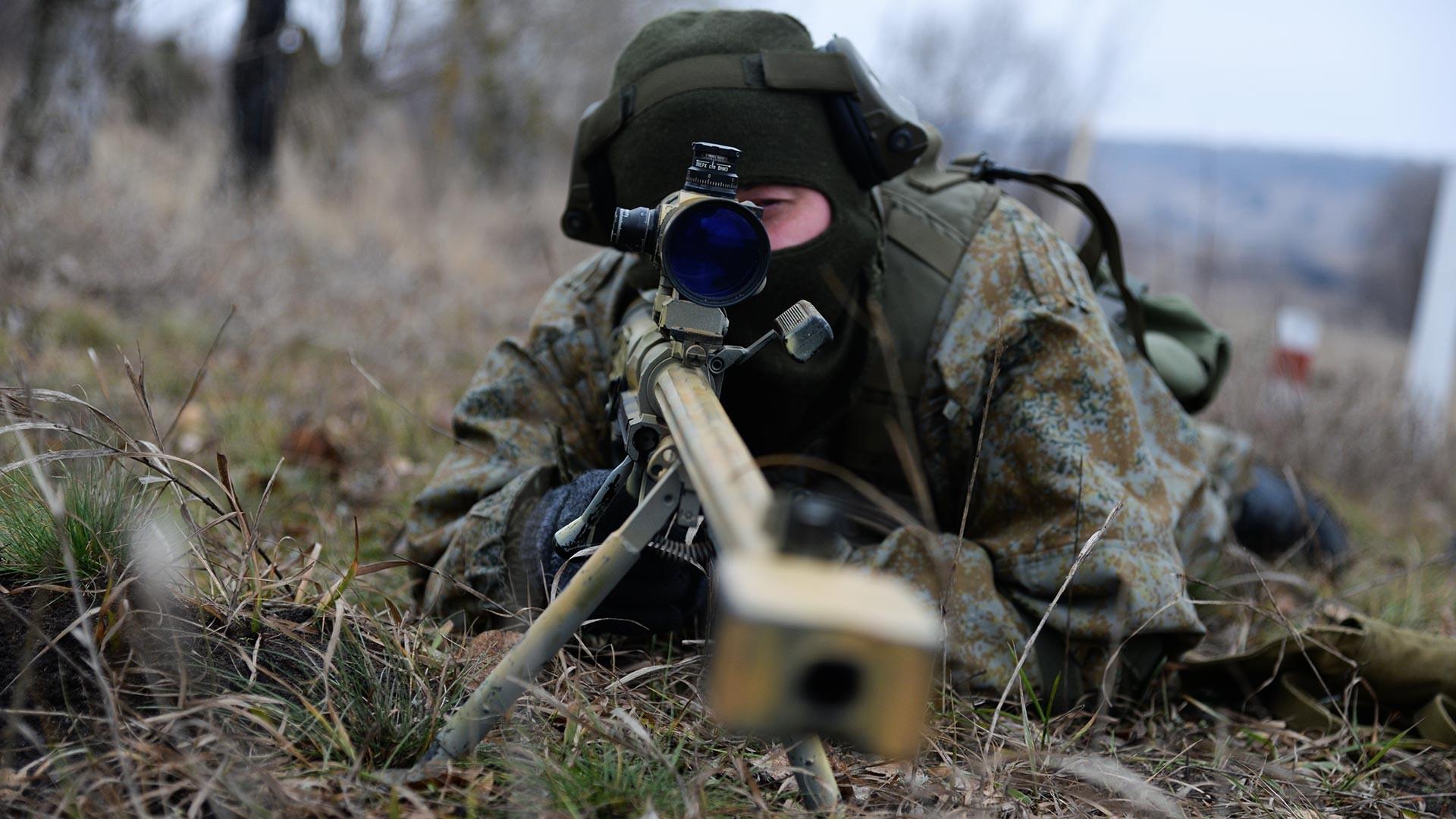 Тактичко бојево гађање снајперских парова у Вороњешкој области.