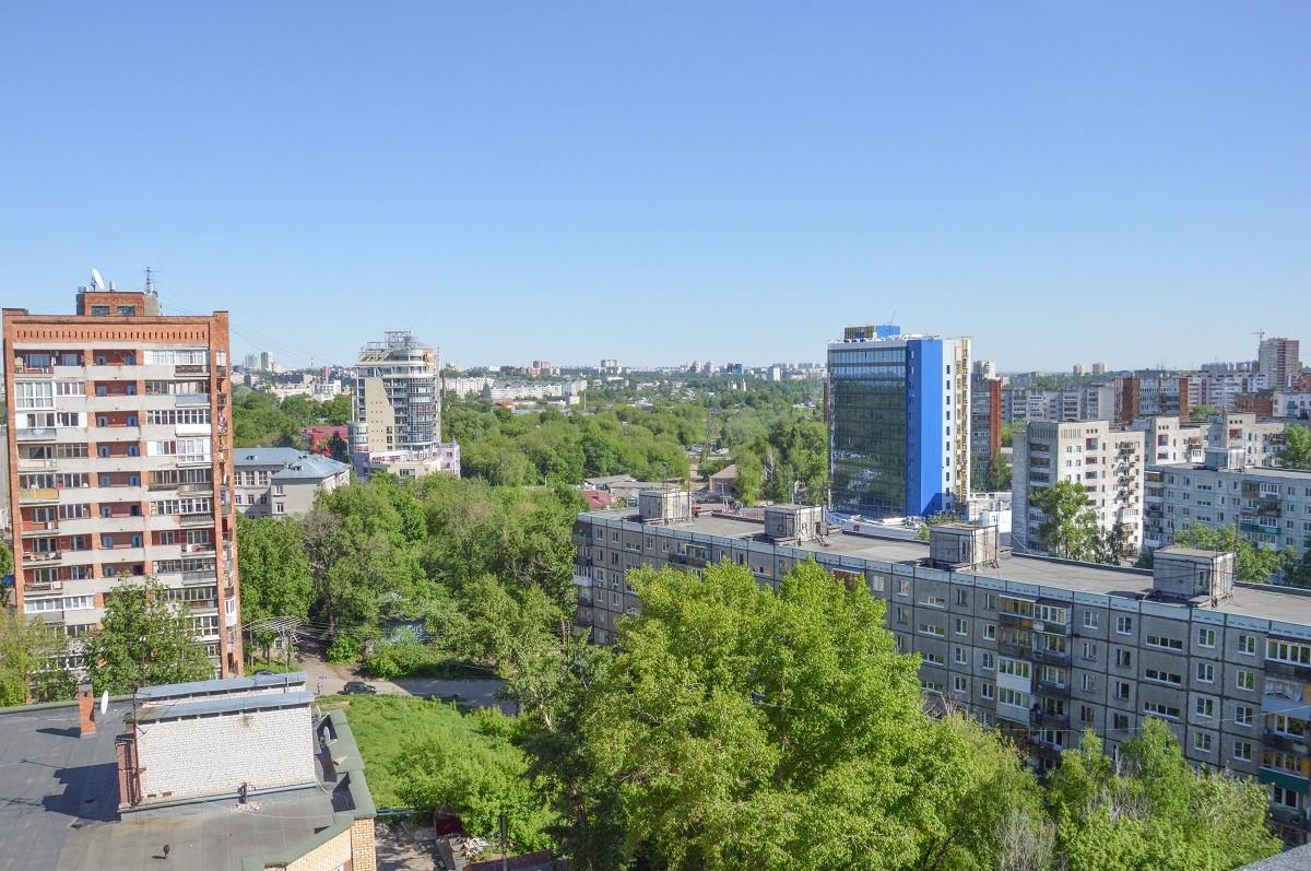La vue depuis ce fameux toit à Nijni Novgorod