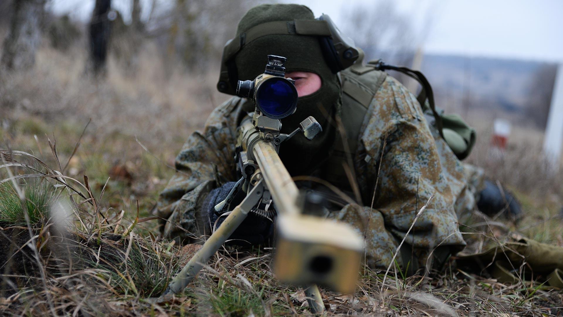 Тактичко боево гаѓање на снајперски двојки во Воронешката област