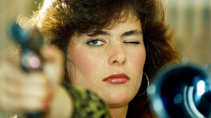 """Победителката в конкурса за красота """"Първа дама на КГБ"""" Екатерина Майорова. 1990 година"""