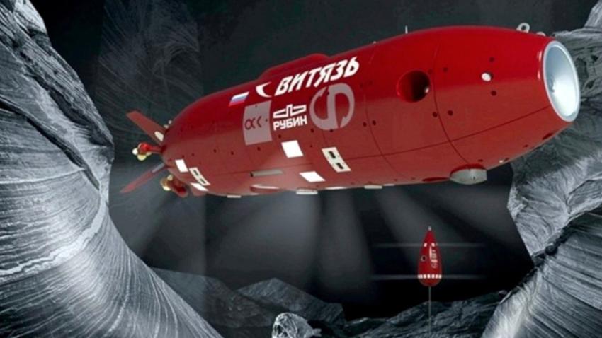 """Руски подводни аутономни апарат без посаде """"Витез""""."""