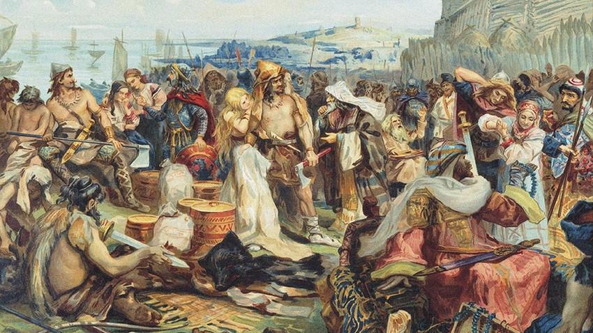 Comércio nos primórdios do Estado eslavo oriental