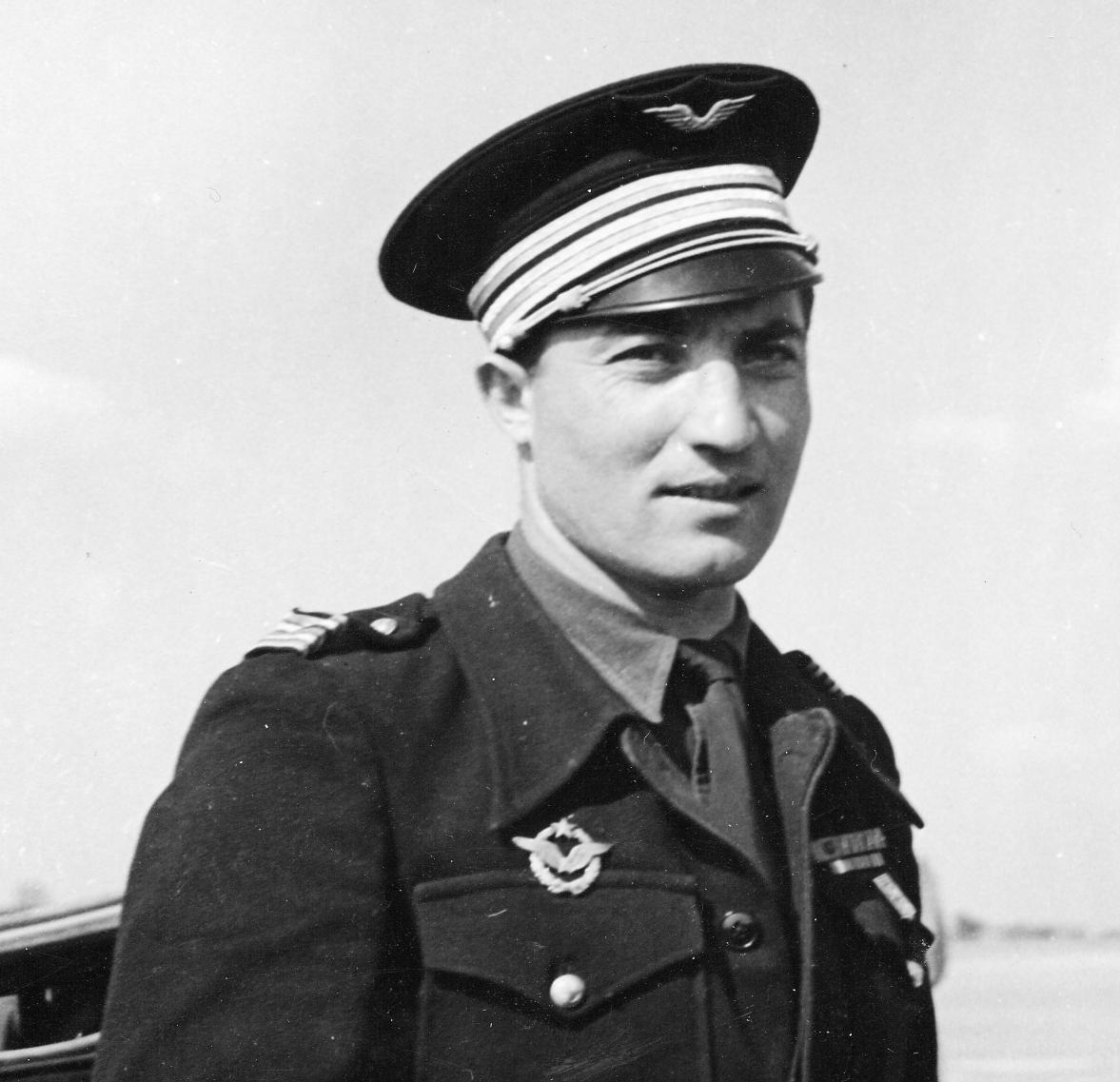 Le lieutenant-colonel Louis Delfino en juin 1945