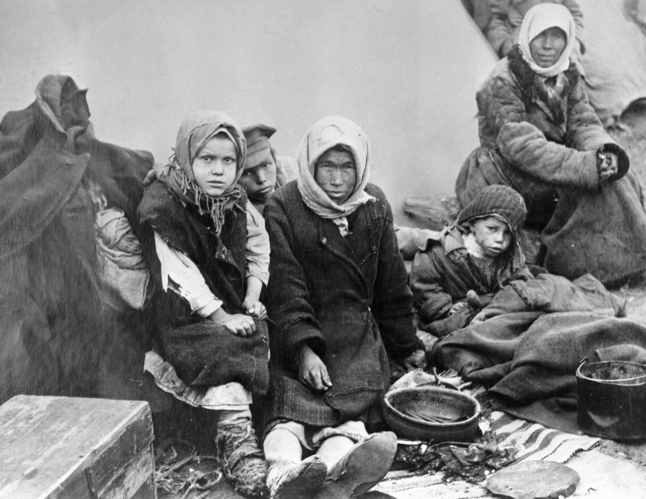 Keluarga yang kelaparan di Republik Chuvashia.