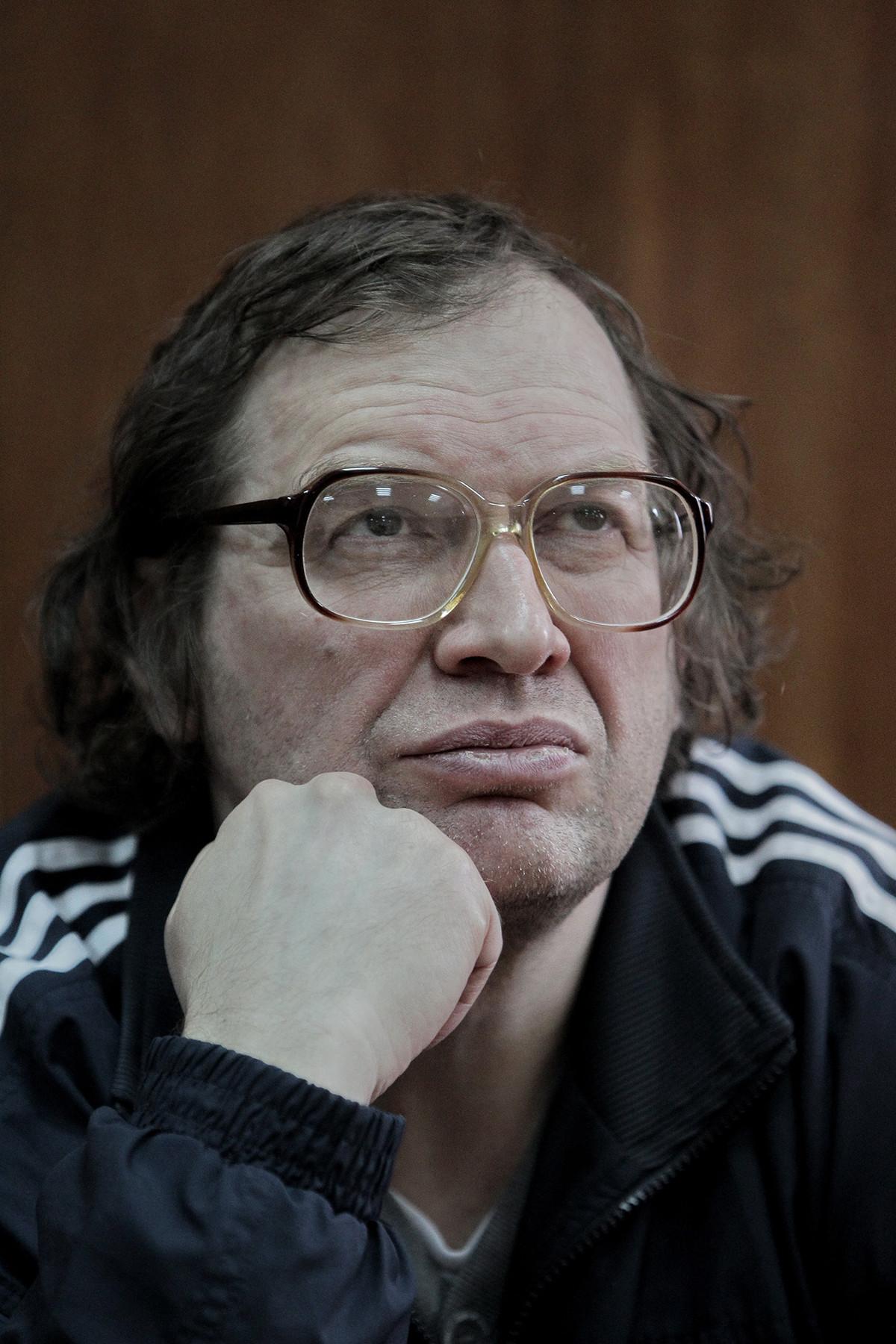 Avtor finančne piramide Sergej Mavrodi na Hamovniškem sodišču v Moskvi