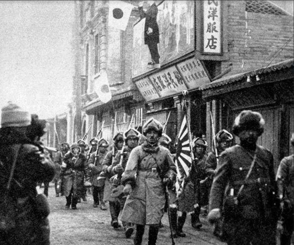 Japonske sile vstopajo v Činčov.