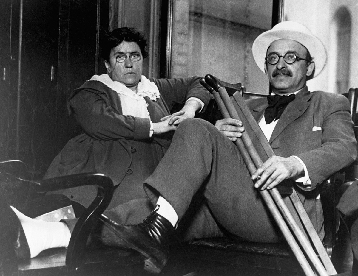 Emma Goldman and Alexander Berkman.