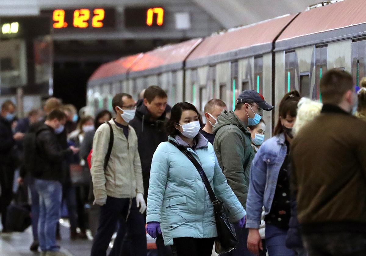Metrô de Moscou em 1º de junho
