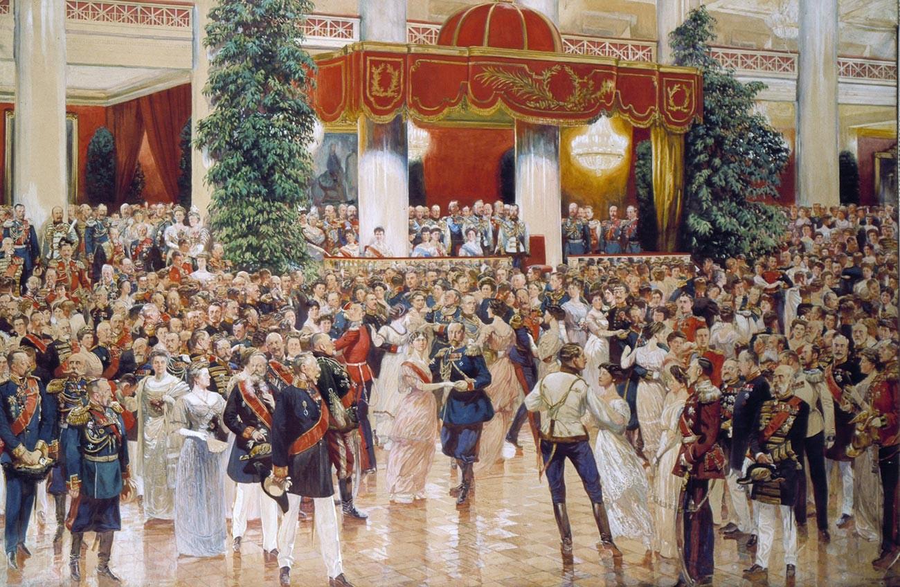 Бал у Петербуршком племићком сабрању 1913. године поводом 300. годишњице династије Романов.