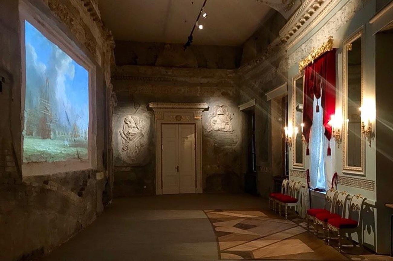 回廊は復元しないことになったが、破壊後の状態を保った記憶の間を公開することが決まった。写真は2019年現在の様子。