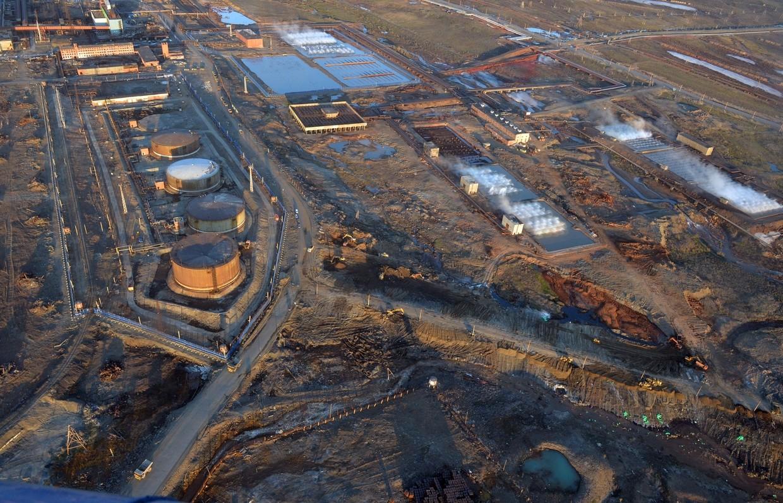 流出が起きた火力発電所