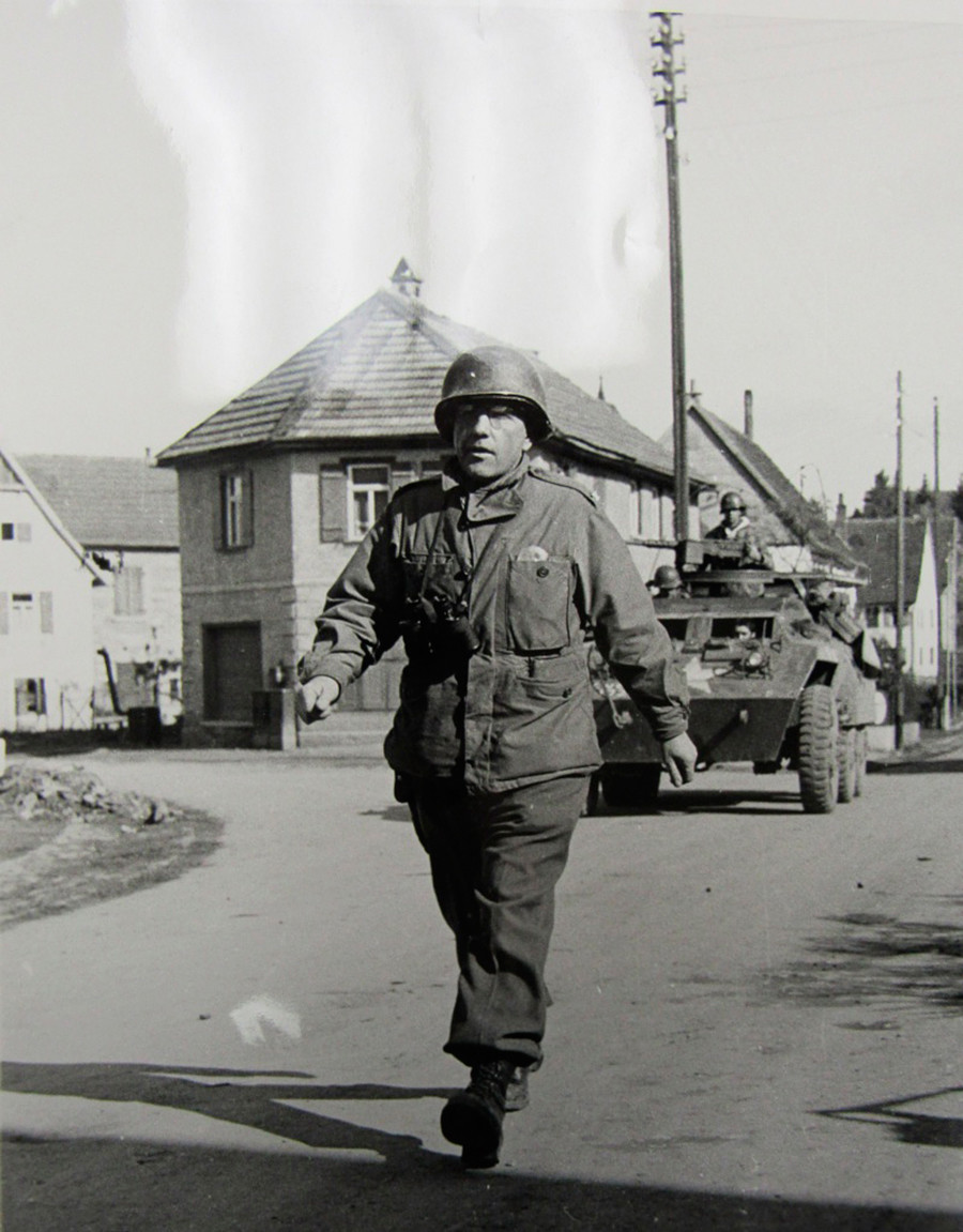 Boris Parsh in Tannheim, 1945.