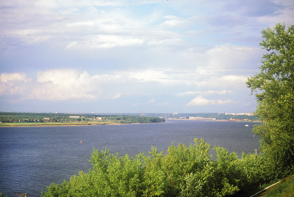 View of Kama River northwest from Transfiguration Cathedral. August 21, 1999
