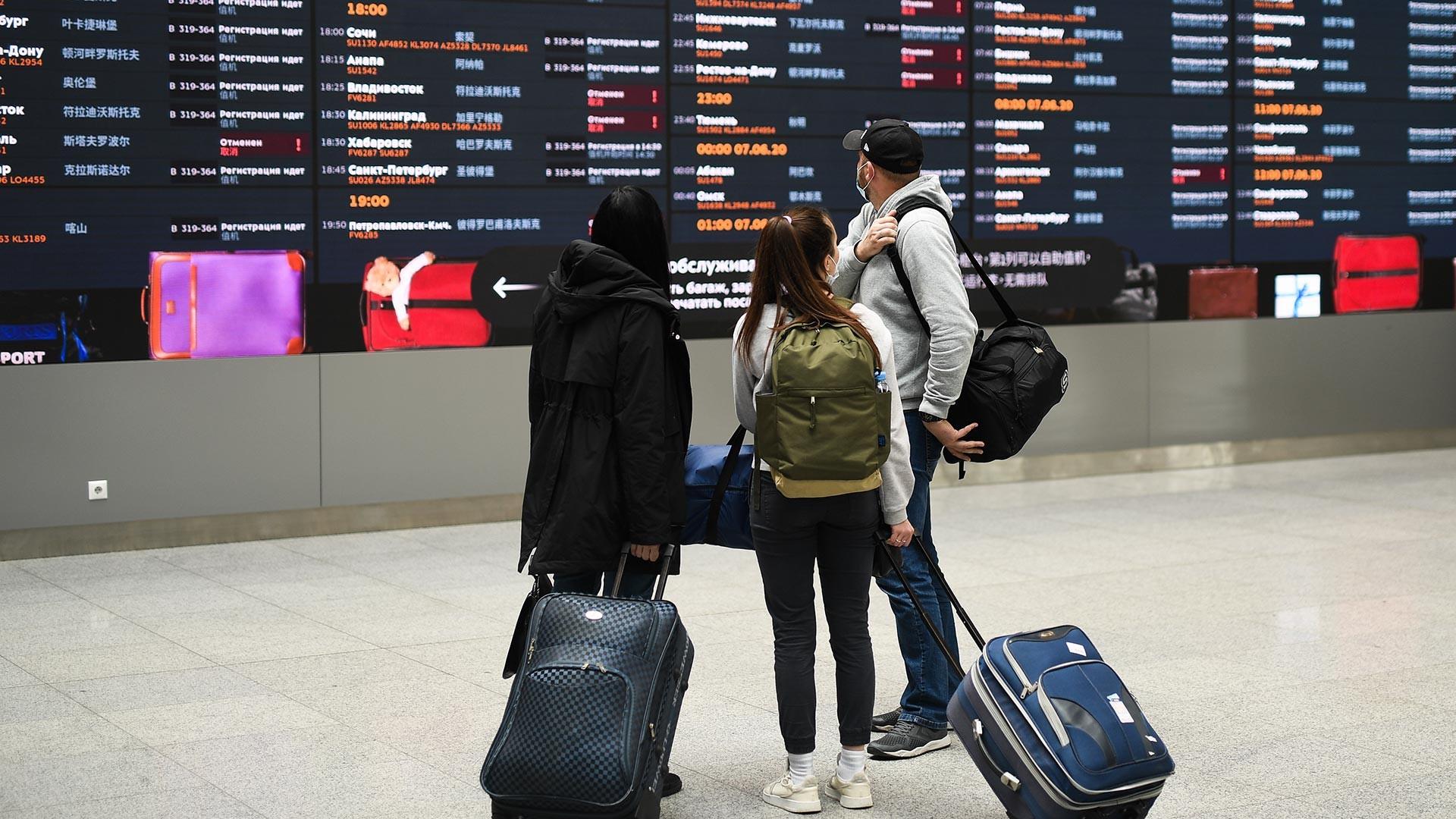 À l'aéroport moscovite de Cheremetievo