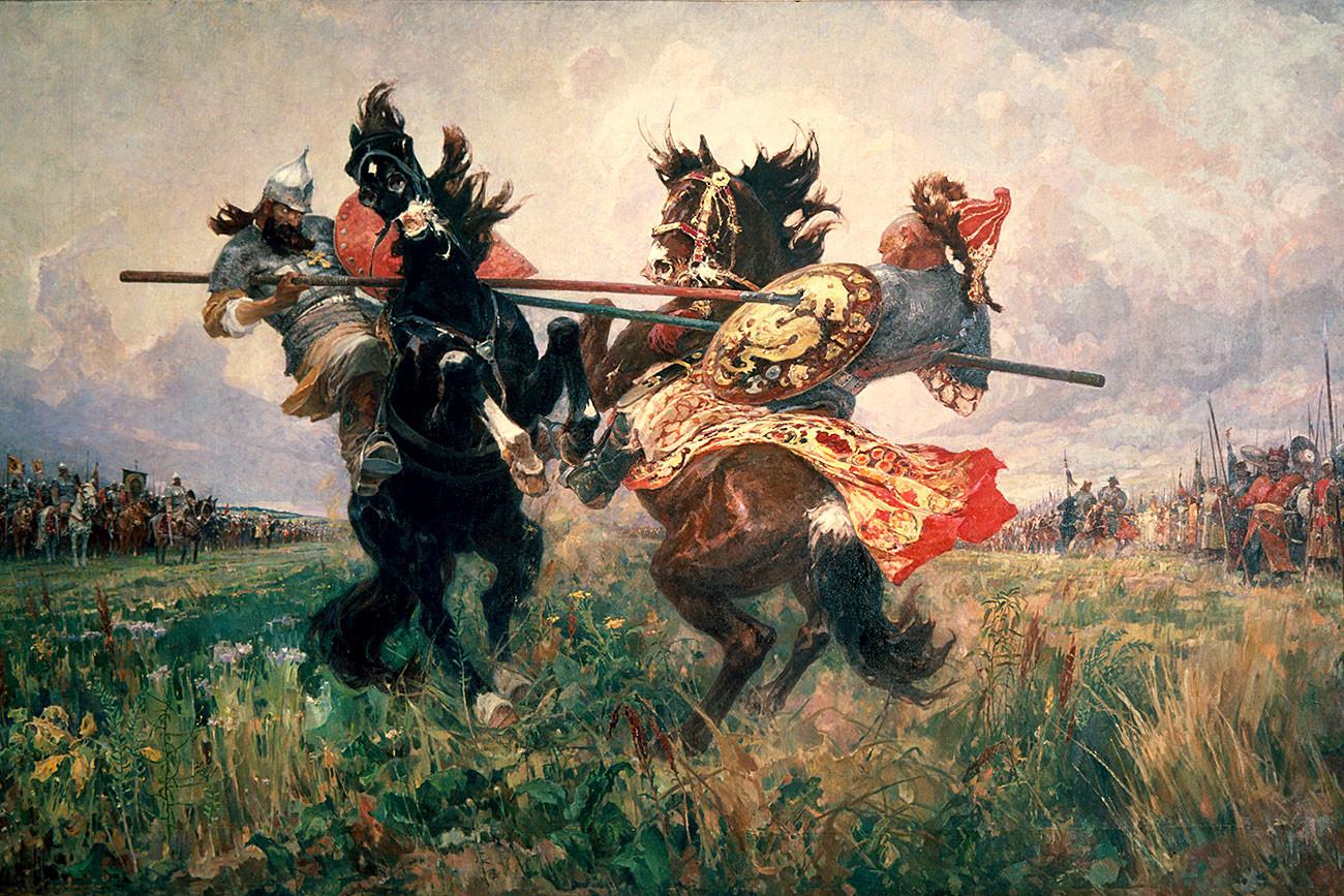 Bataille de Koulikovo, par le peintre Mikhaïl Avilov
