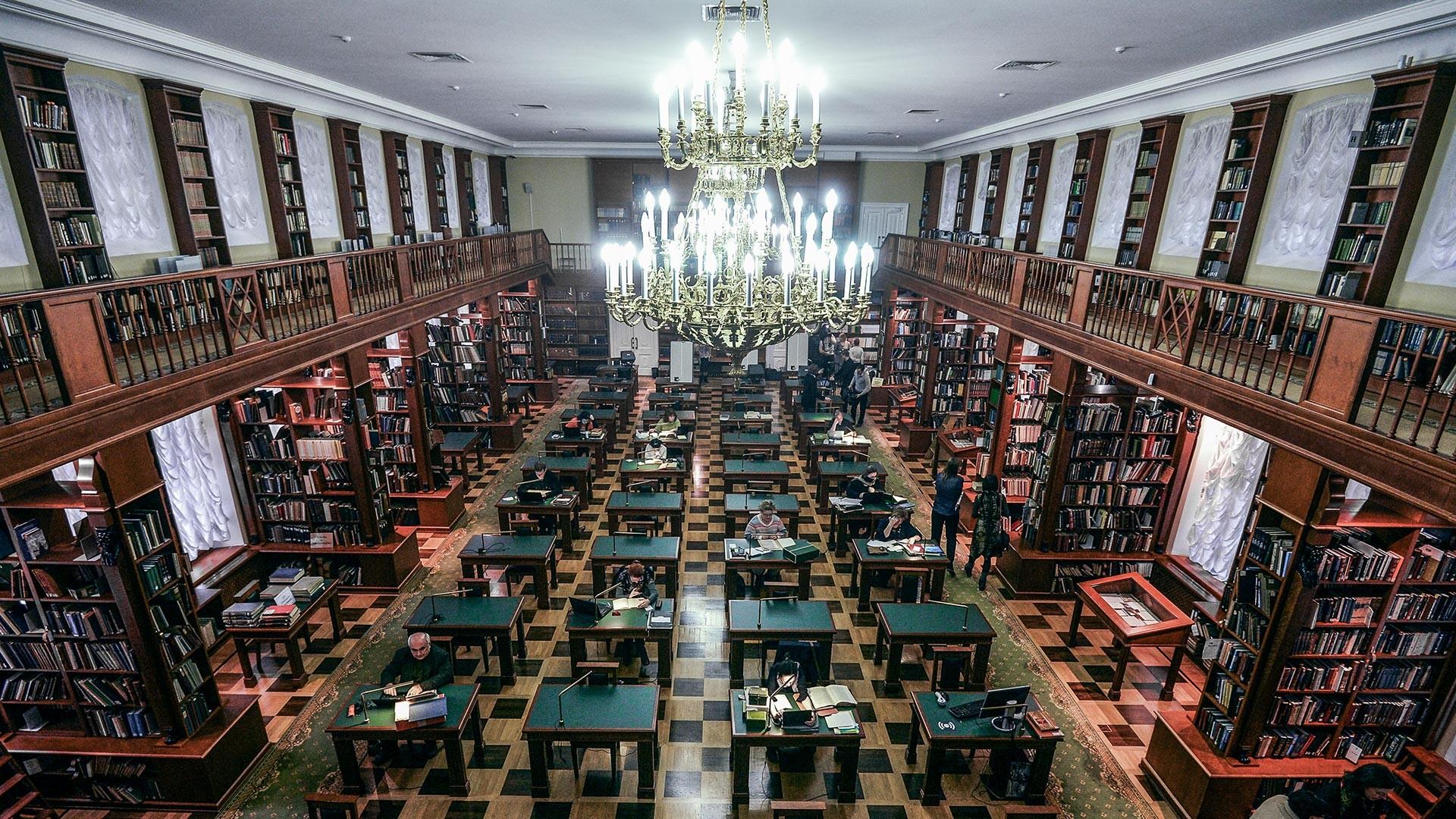 Румянцевский читальный зал научно-исследовательского отдела рукописей Ленинки