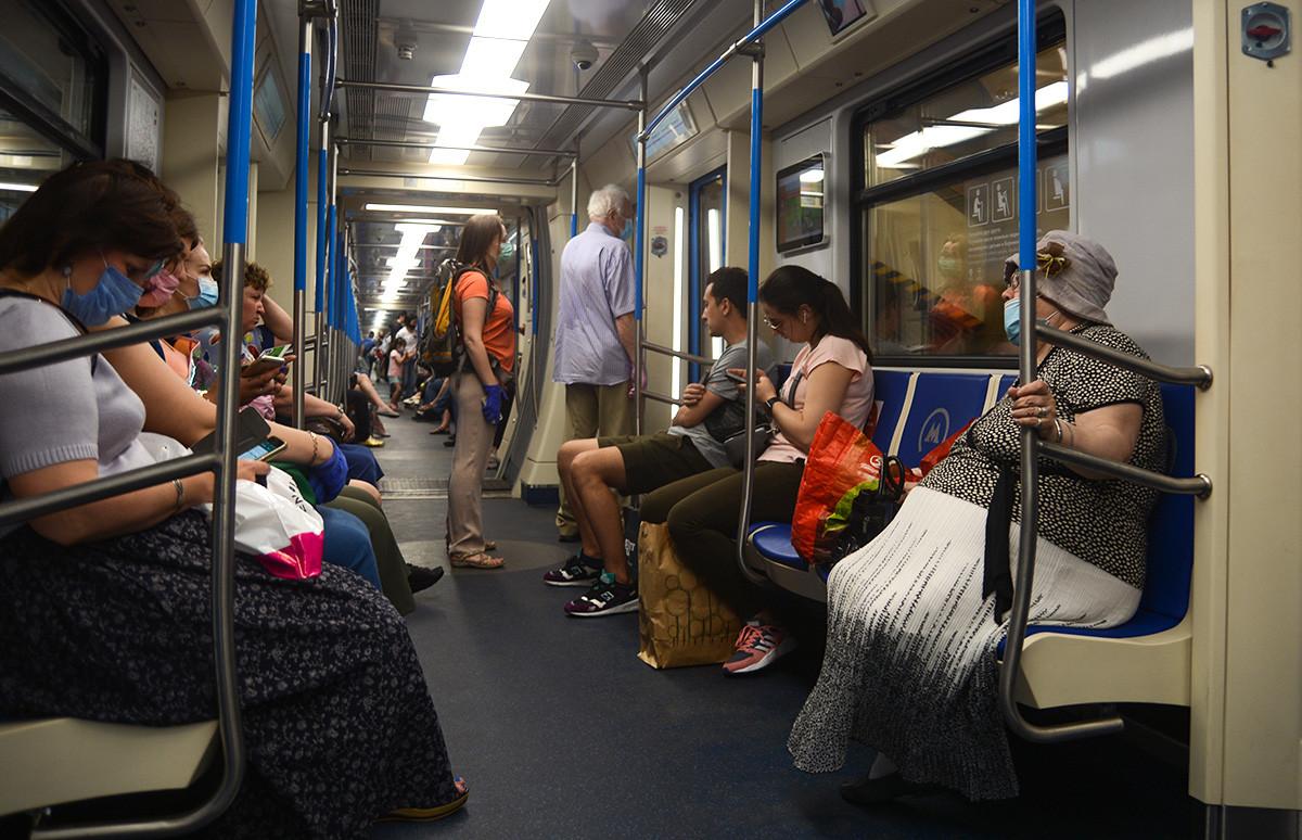 El ambiente en el metro el 9 de junio.