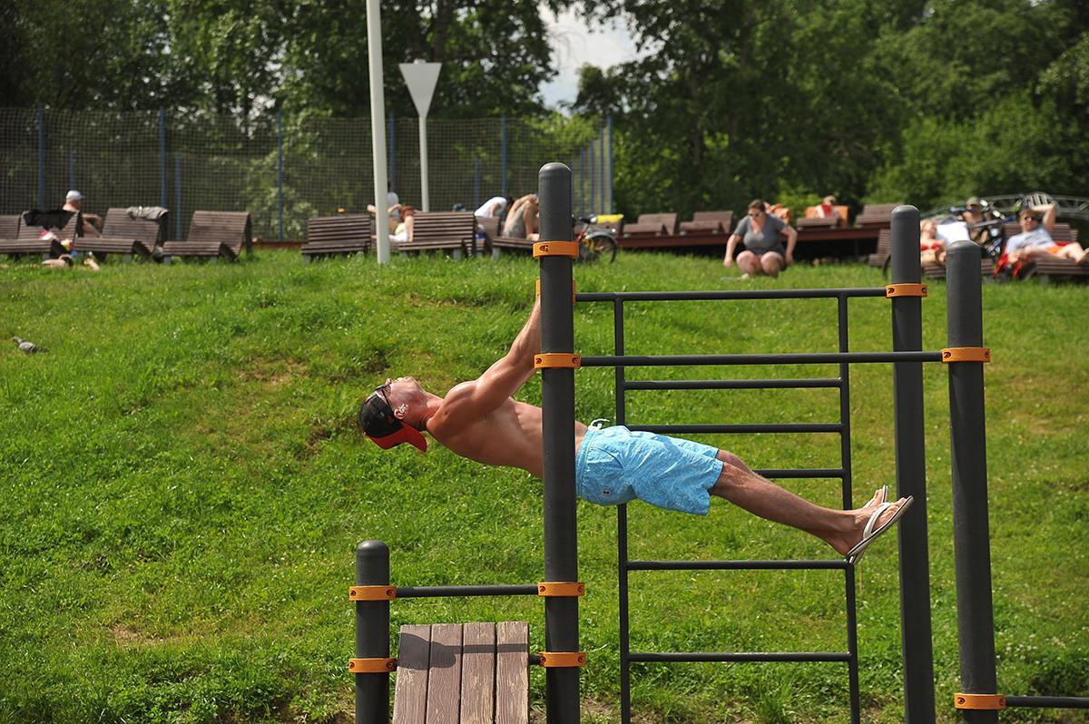 Cuaca panas di Moskow pada 9 Juni.