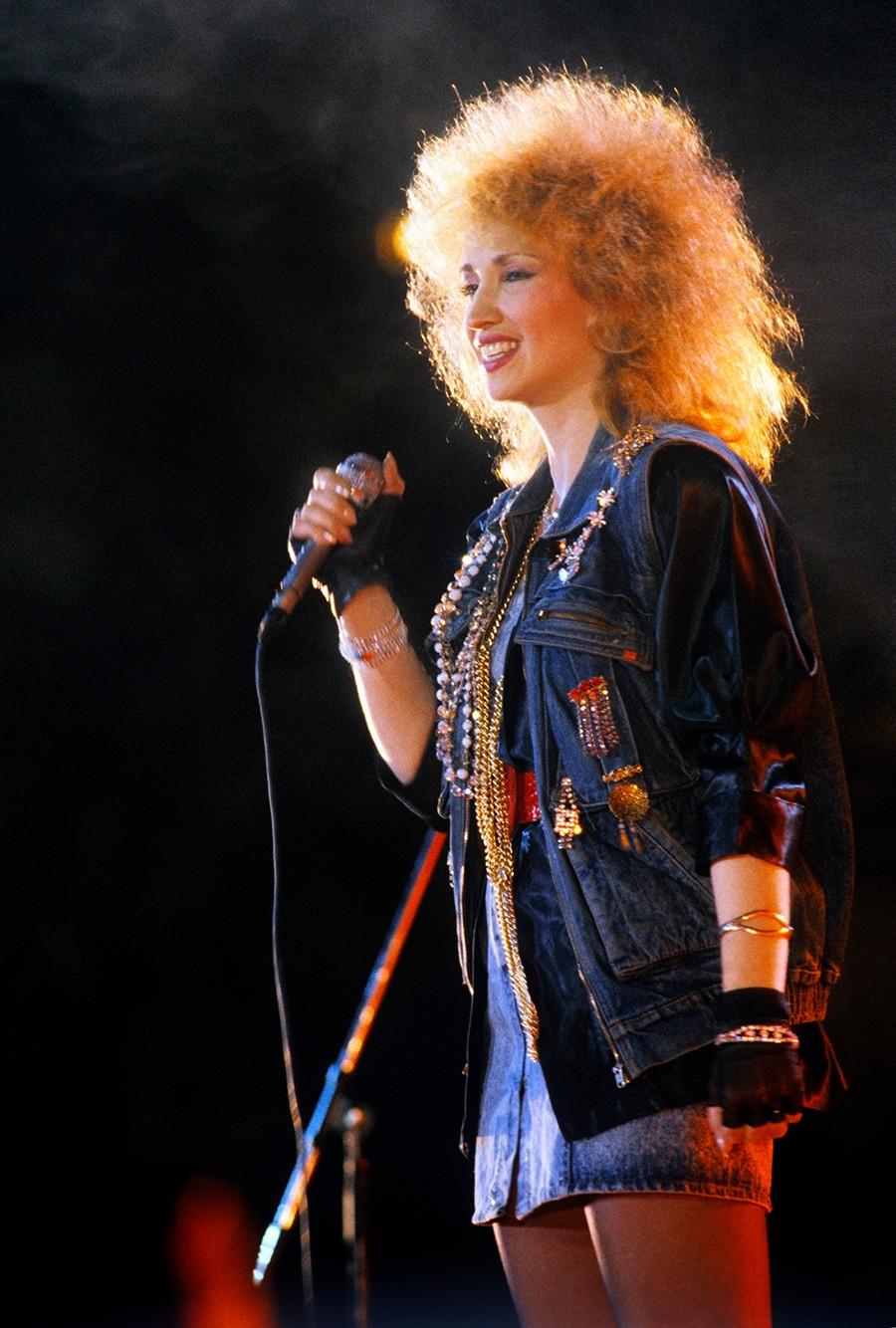 Pevka Irina Allegrova.