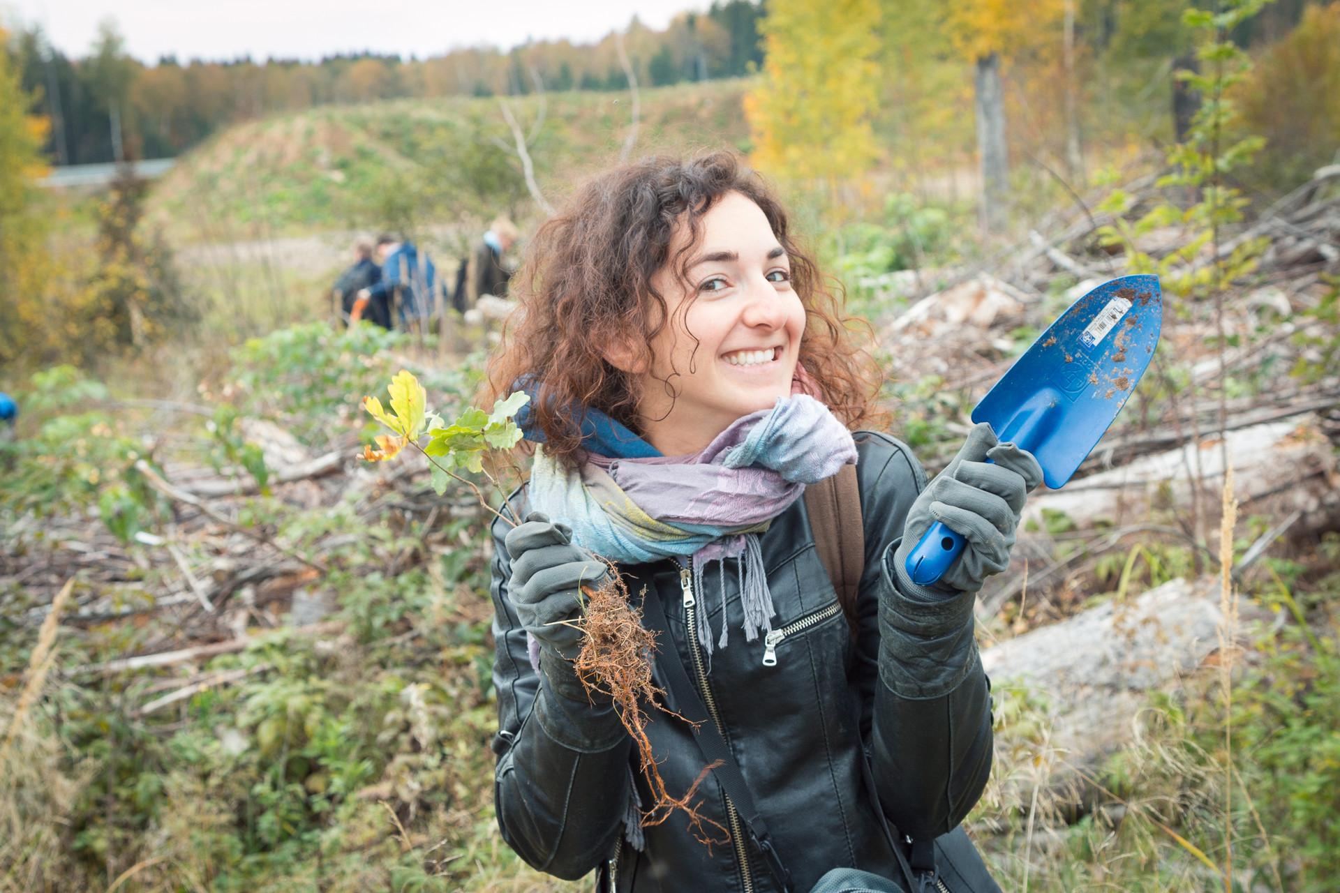 Piantando un bosco nella oblast' di Mosca con Greenpeace