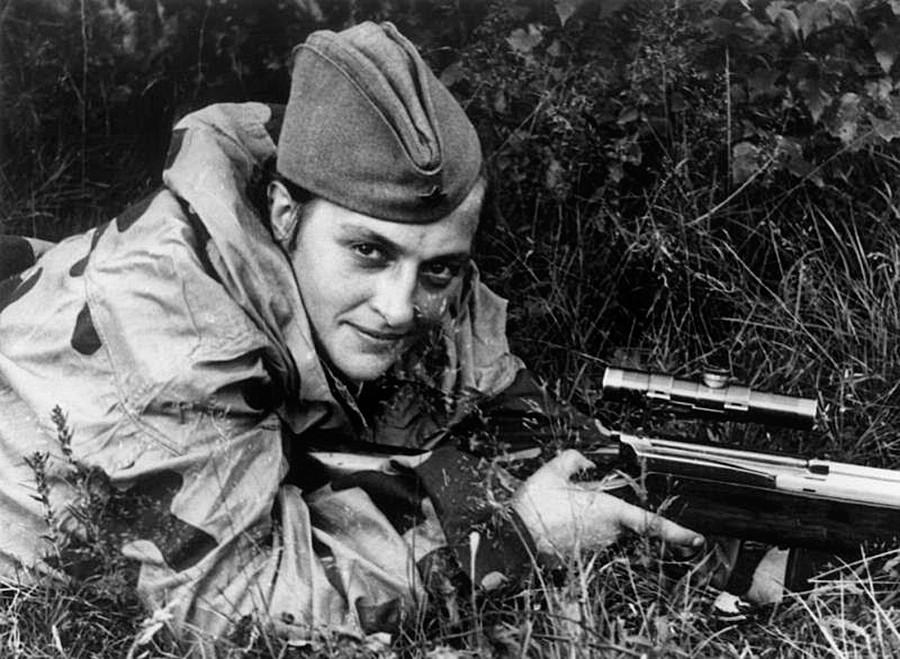 A atiradora de elite Liudmila Pavlitchenko.