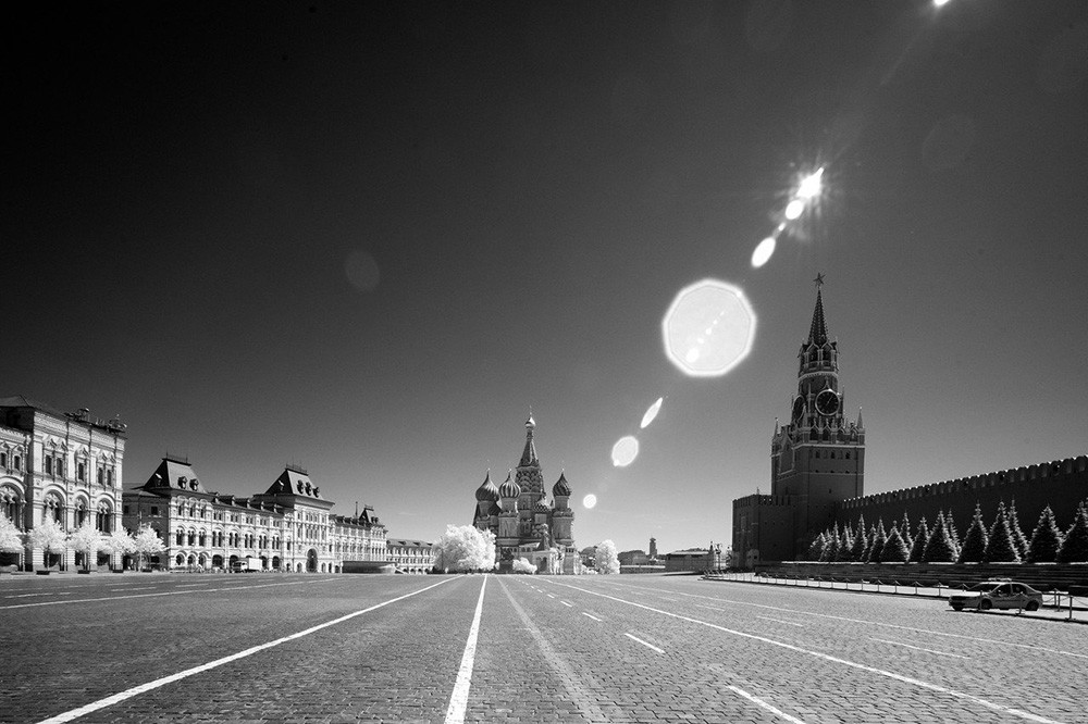 An empty Red Square, May 12.