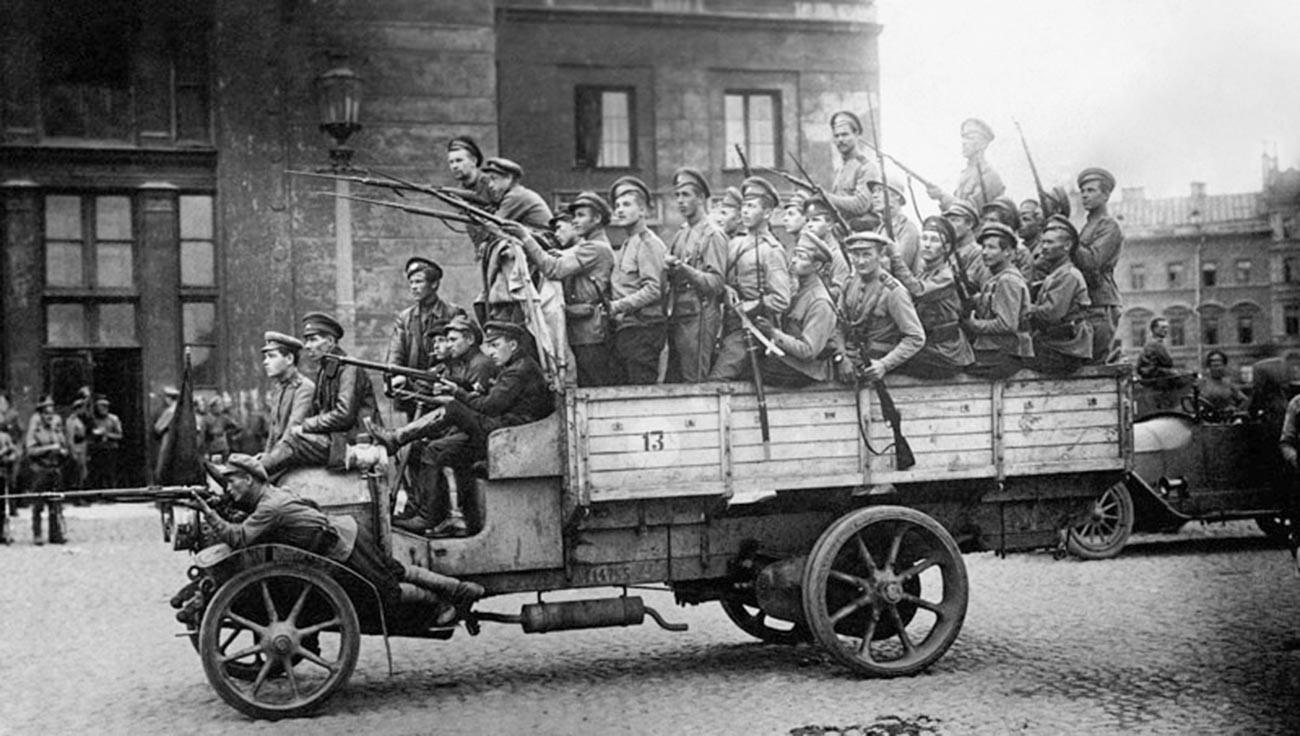 Soviet troops.