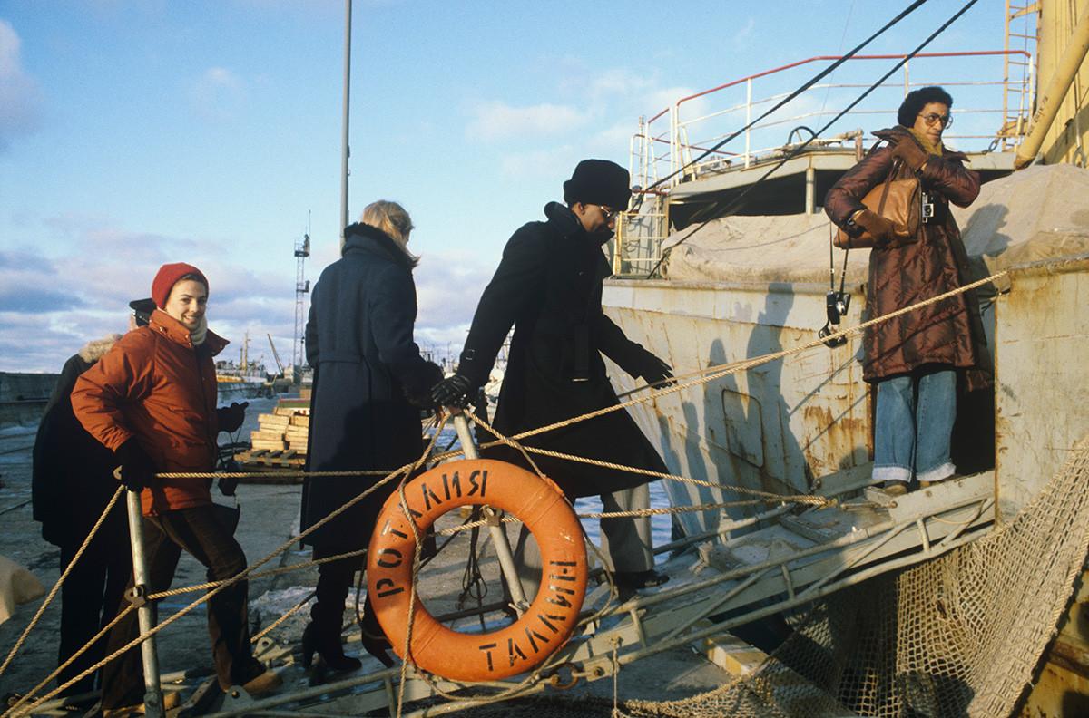 В Таллинском морском торговом порту, 1979 г.