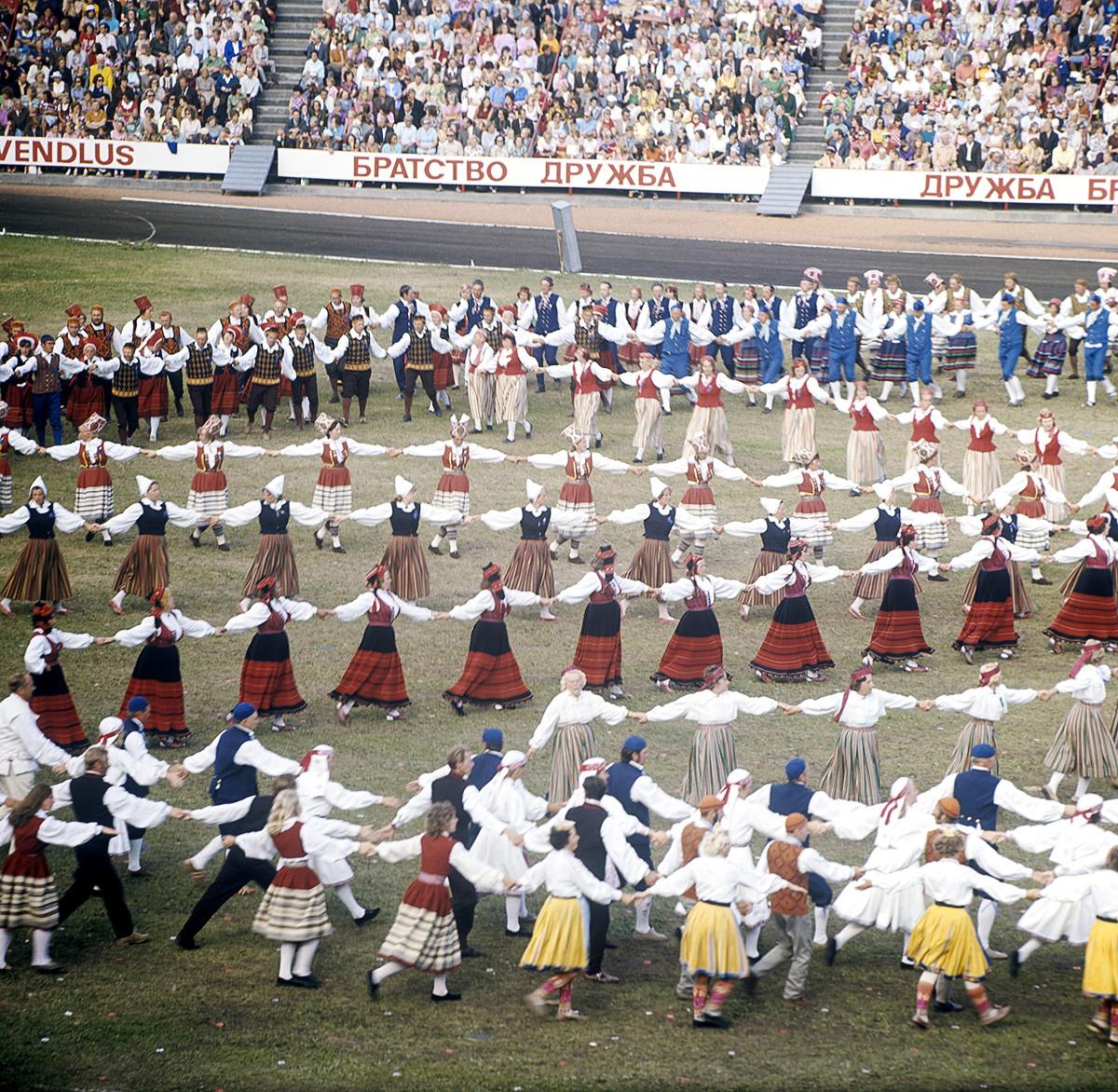 Республиканский праздник песни и танца в Таллине, 1976 г.