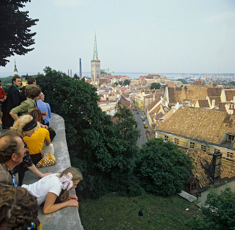 View of Old Town of Tallinn from observation point, 1979.