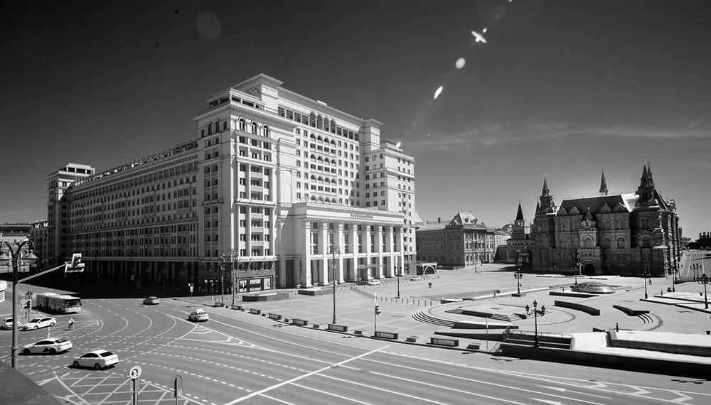 """Das """"Four Seasons Hotel"""" und der Maneschnaja-Platz"""