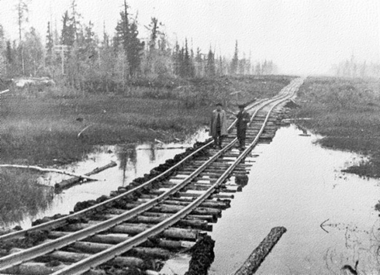 Изградња железничке пруге.