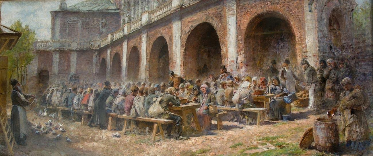 """""""Pilgermahlzeit in dem Dreifaltigkeitskloster des heiligen Sergius"""""""